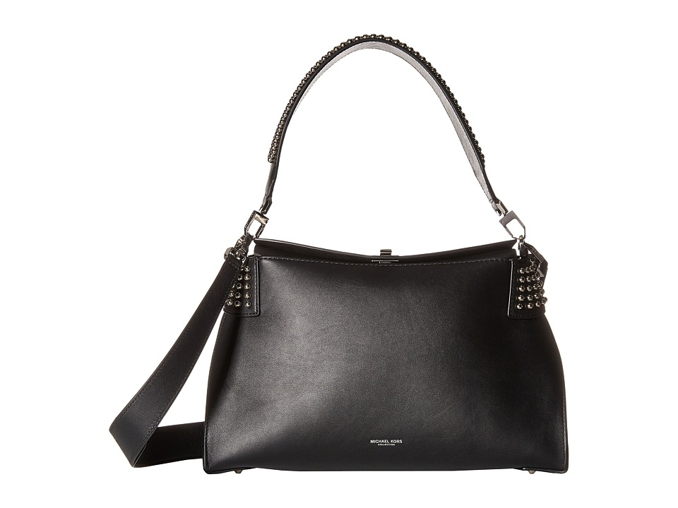 Michael Kors - Miranda Lg Top Lock Shldr (Black/Studs) Handbags