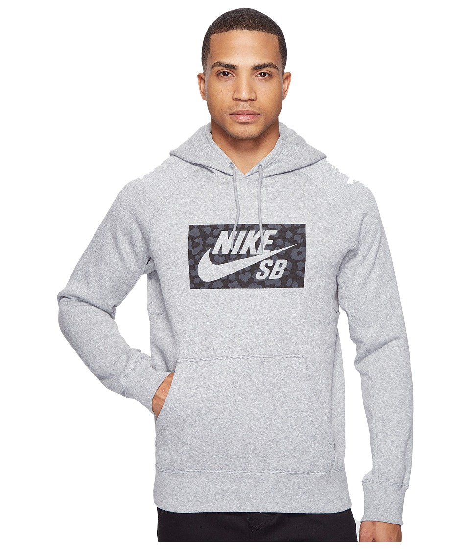 Nike SB - SB Icon Jagmo Hoodie (Dark Grey Heather) Men's Sweatshirt