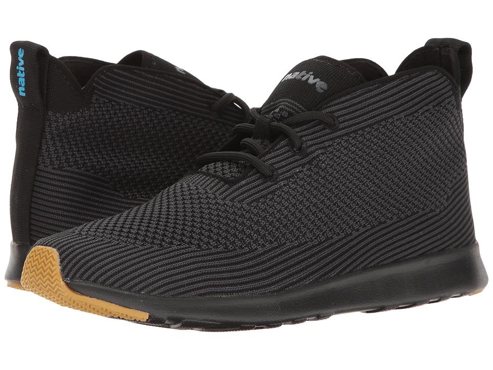 Native Shoes AP Rover Liteknit (Jiffy Black/Jiffy Black/Natural Rubber) Athletic Shoes