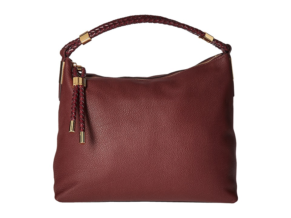 Michael Kors - Skorpios Top Zip Shoulder (Burgundy) Shoulder Handbags