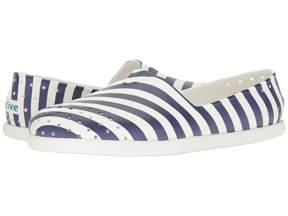 Native Shoes - Verona (Shell White/Shell White/Regatta Stripe) Shoes