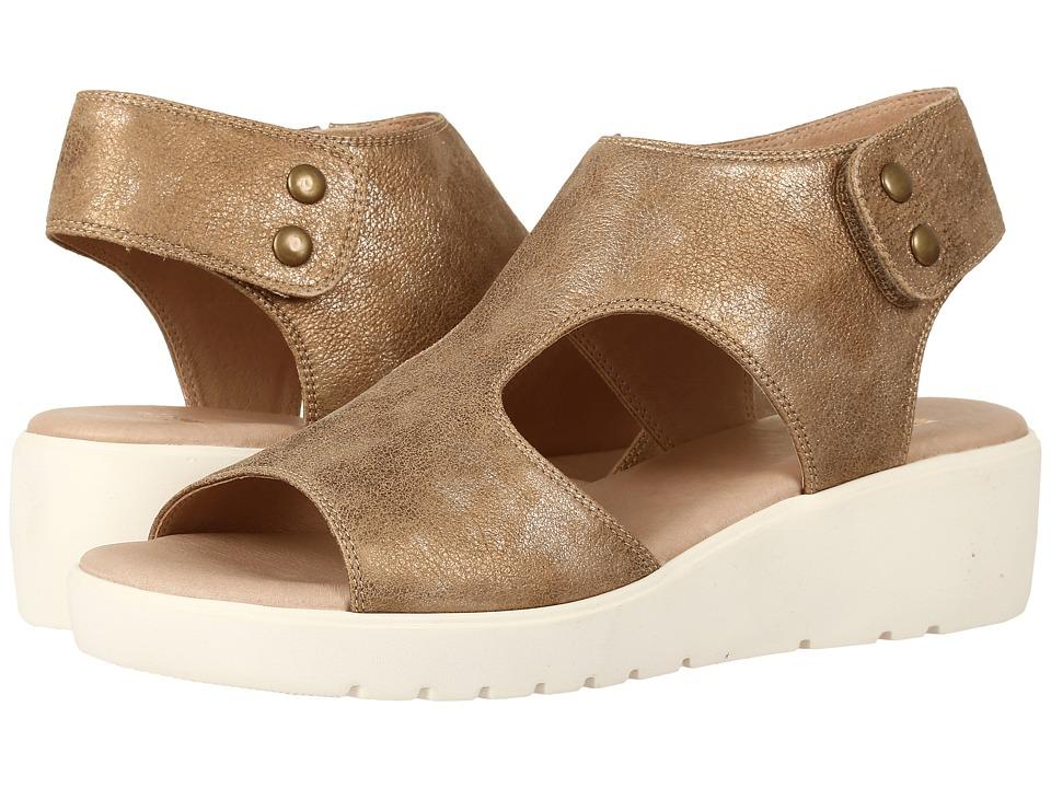 Johnston & Murphy - Camilla (Gold Italian Metallic Leather) Women's Sandals