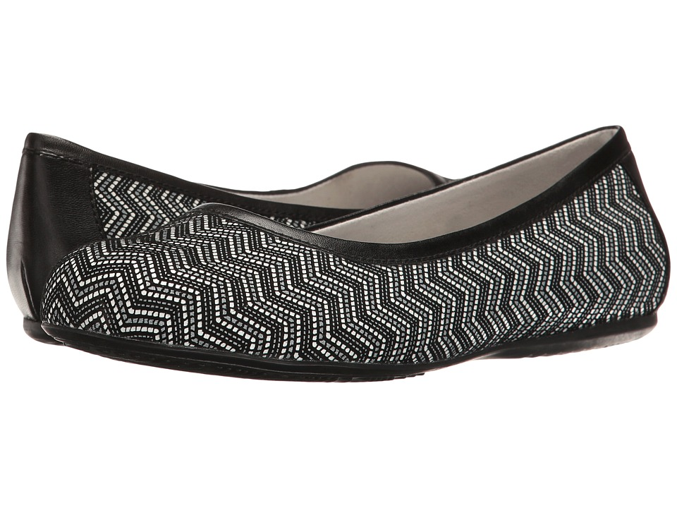 SoftWalk - Napa (Black Geo Leather) Women's Flat Shoes