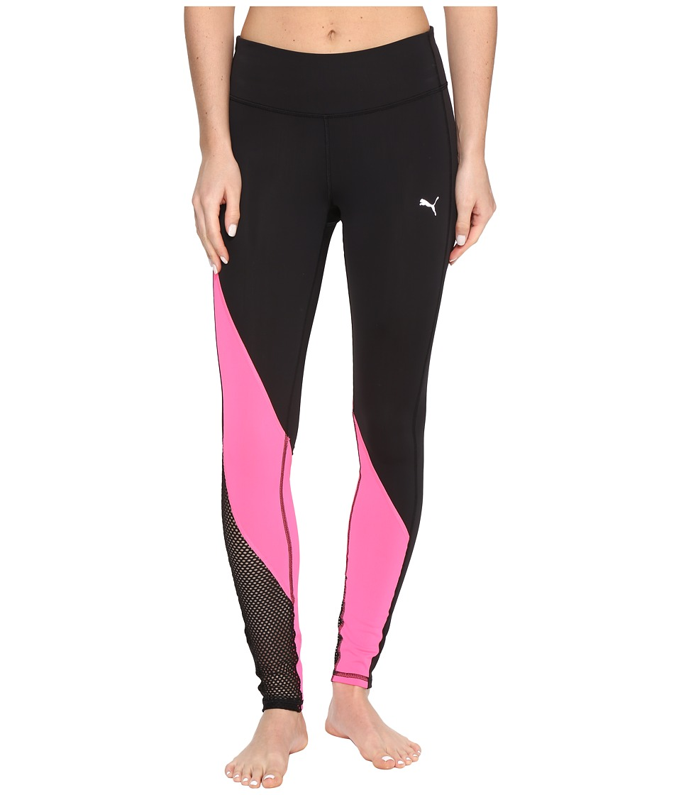 PUMA - Explosive Tights (Puma Black/Knockout Pink) Women's Workout