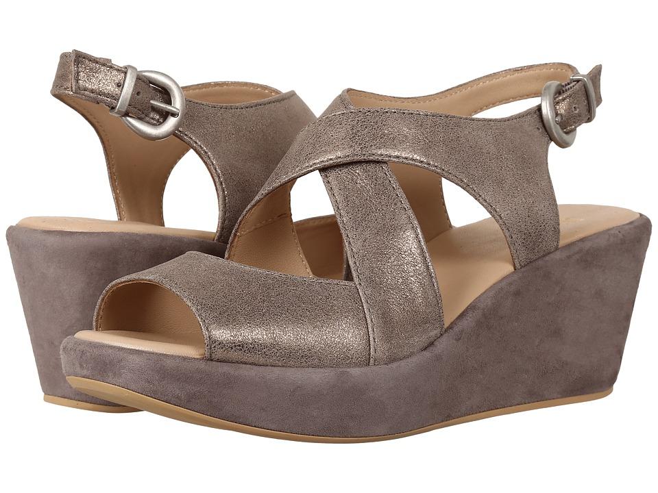 Johnston & Murphy - Dana (Pewter Italian Metallic Suede) Women's Sandals