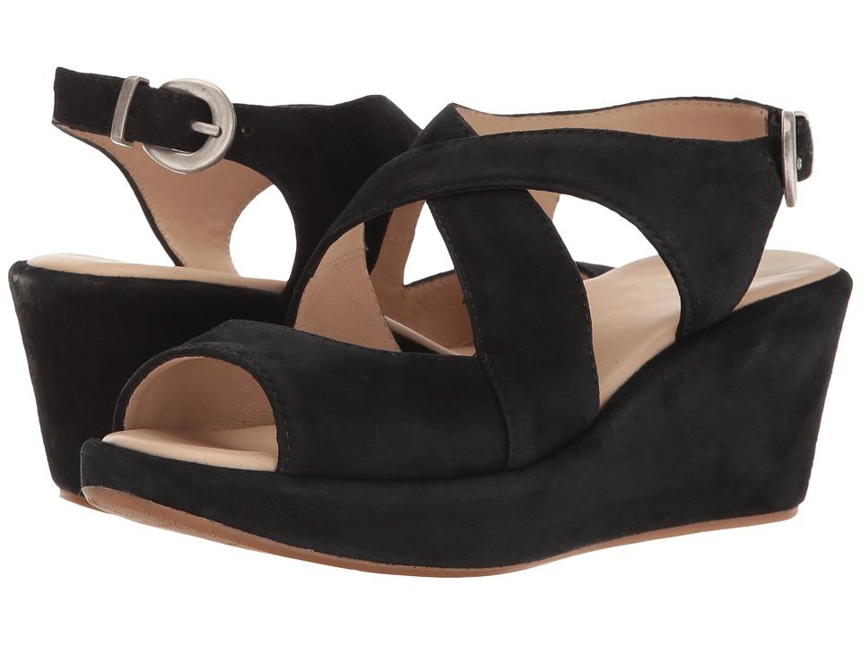 Johnston & Murphy - Dana (Black Italian Kid Suede) Women's Sandals