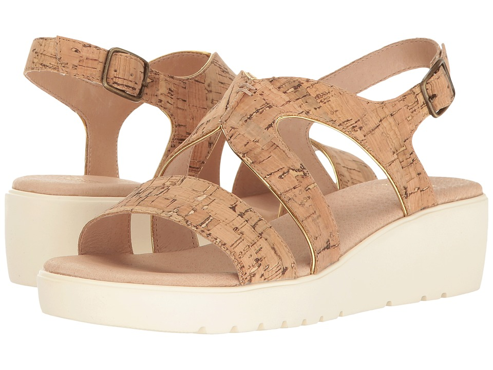 Johnston & Murphy - Cora (Natural Cork/Gold Trim) Women's Sandals