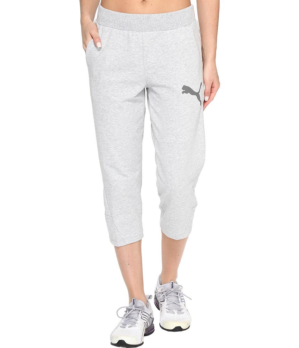 PUMA - Elevated 3/4 Sweatpants (Light Gray Heather) Women's Workout