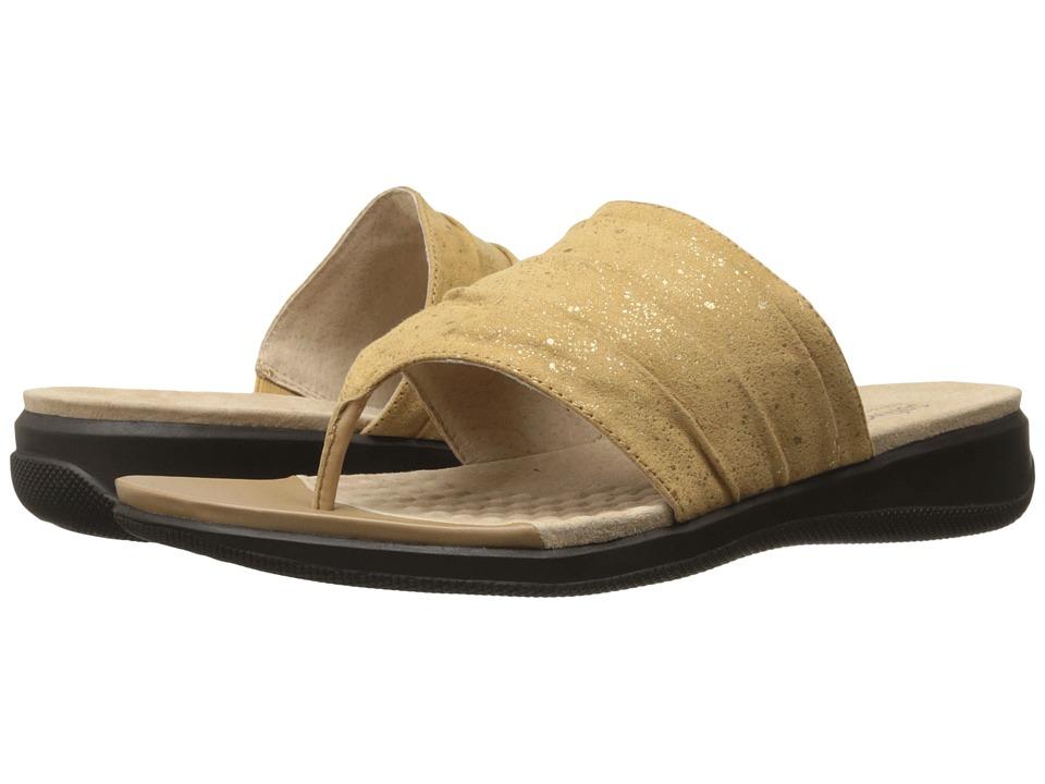 SoftWalk - Toma (Tan Twinkle) Women's Sandals