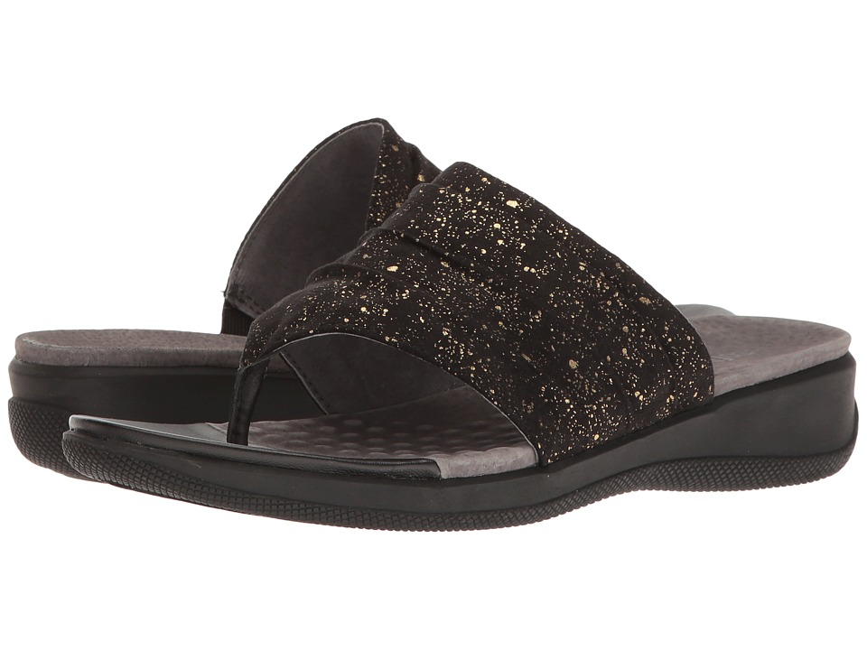 SoftWalk - Toma (Black Twinkle) Women's Sandals