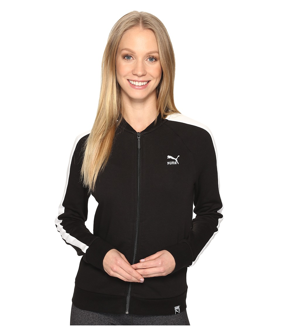 PUMA - Archive Logo T7 Track Jacket (Cotton Black) Women's Coat