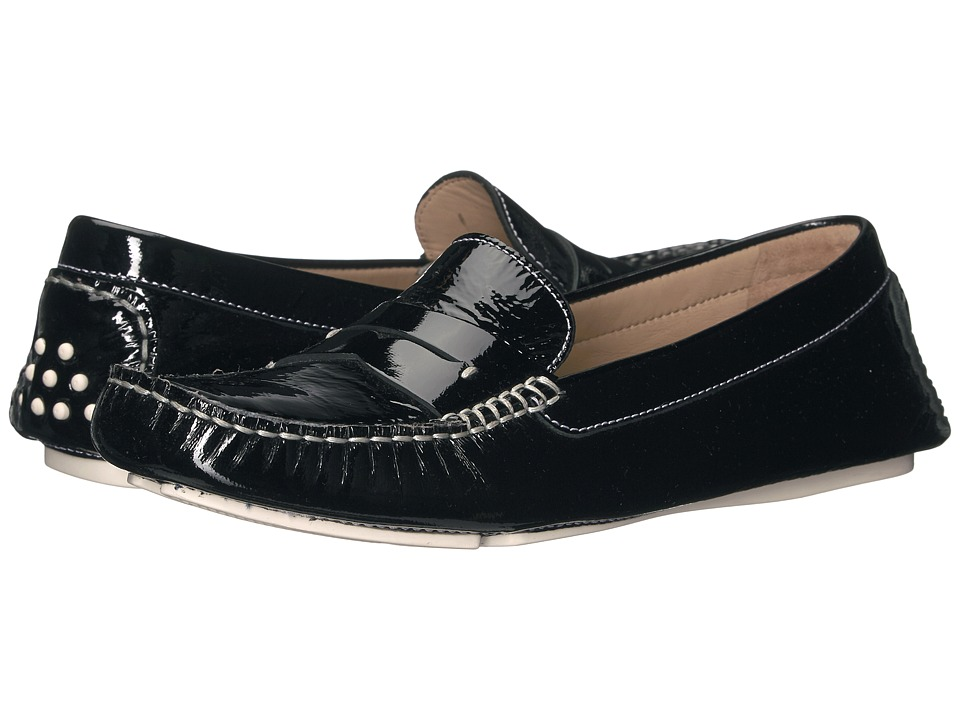Johnston & Murphy - Maggie Penny (Black Italian Soft Patent Leather) Women's Dress Flat Shoes