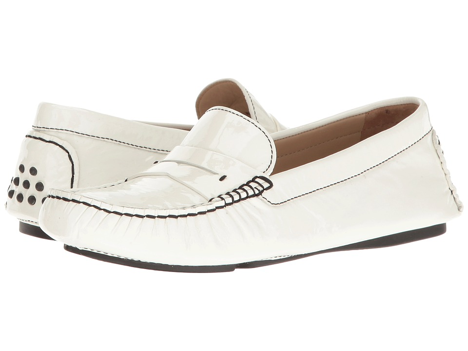 Johnston & Murphy Maggie Penny (White Italian Soft Patent Leather) Women
