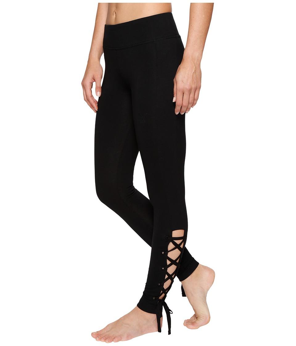 PUMA - Lace-Up Leggings (PUMA Black) Women's Workout