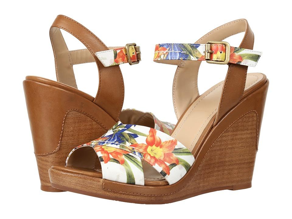 Johnston & Murphy Maren (Floral Print Nappa Leather/Tan Leather Trim) Women