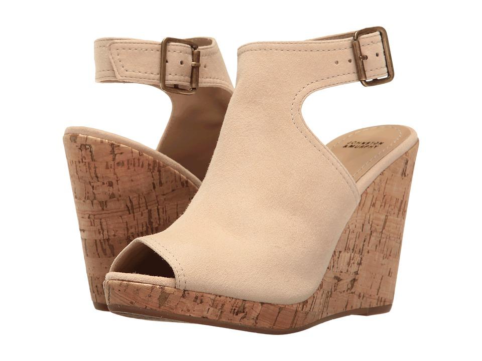 Johnston & Murphy - Mila (Beige Italian Kid Suede) Women's Wedge Shoes