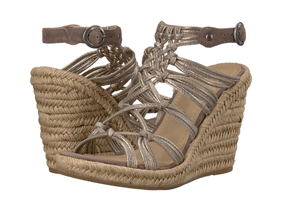 Johnston & Murphy - Mindy (Pewter Italian Kid Suede/Gray Italian Kid Suede) Women's Wedge Shoes