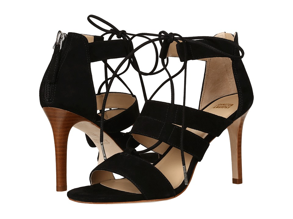 Johnston & Murphy - Natasha (Black Italian Kid Suede) High Heels