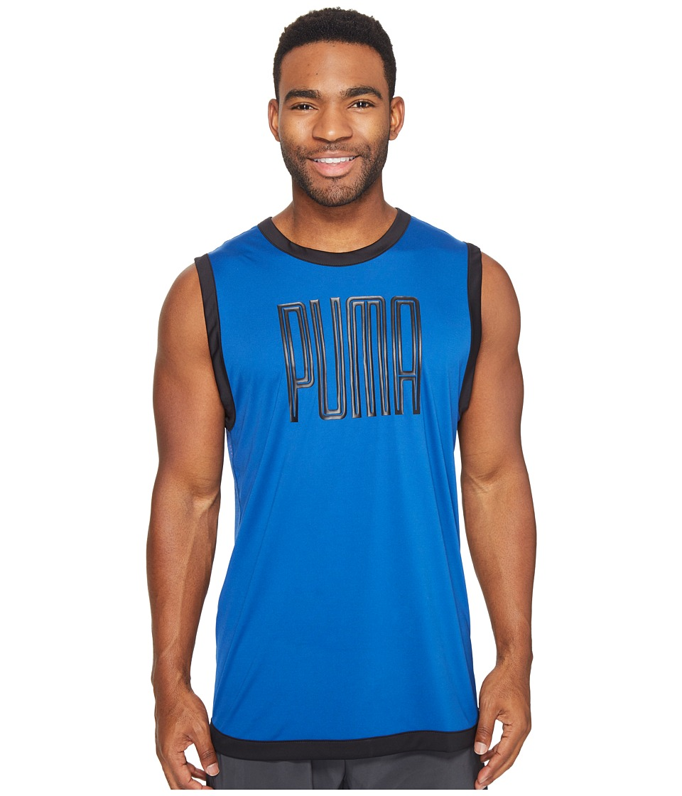 PUMA - Training Sleeveless Top (True Blue/Bright Plasma) Men's Sleeveless