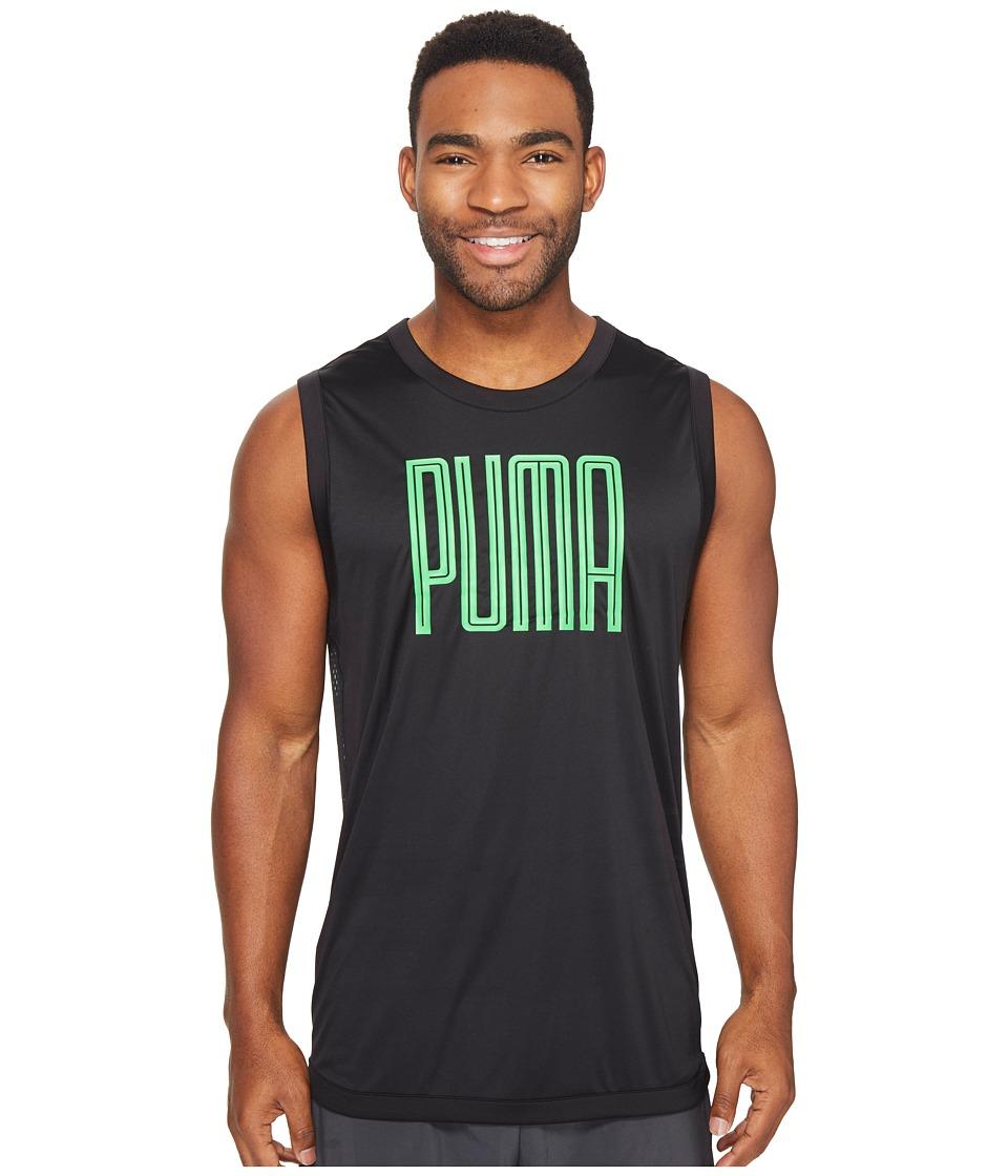 PUMA - Training Sleeveless Top (PUMA Black/Andean Toucan) Men's Sleeveless