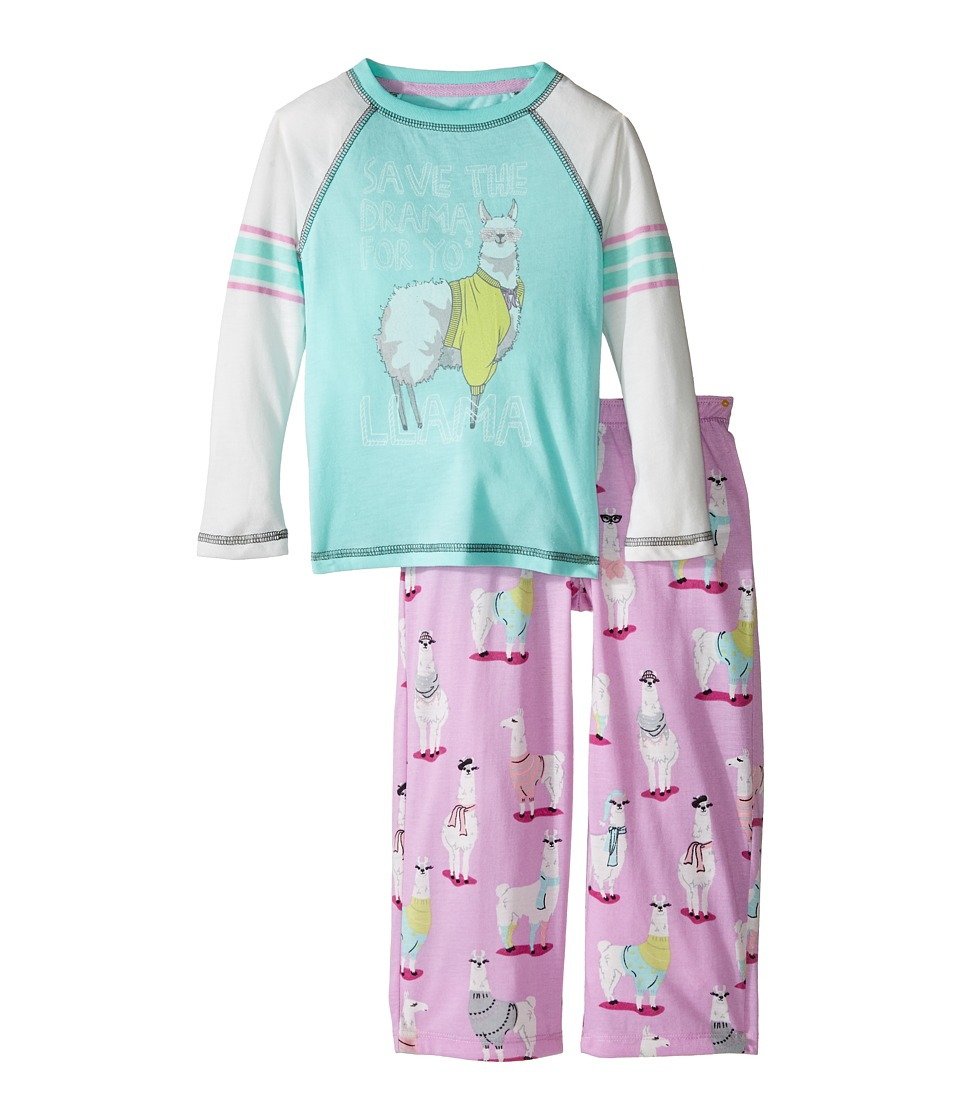 P.J. Salvage Kids - Llama Drama Sleep Set (Toddler/Little Kids/Big Kids) (Lilac) Girl's Pajama Sets