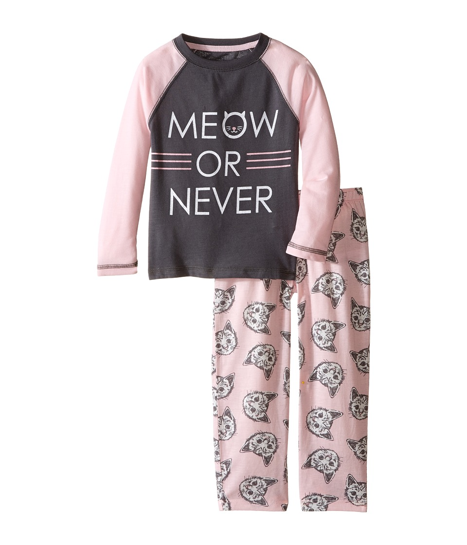 P.J. Salvage Kids - Meow or Never Cat Sleep Set (Toddler/Little Kids/Big Kids) (Pink) Girl's Pajama Sets