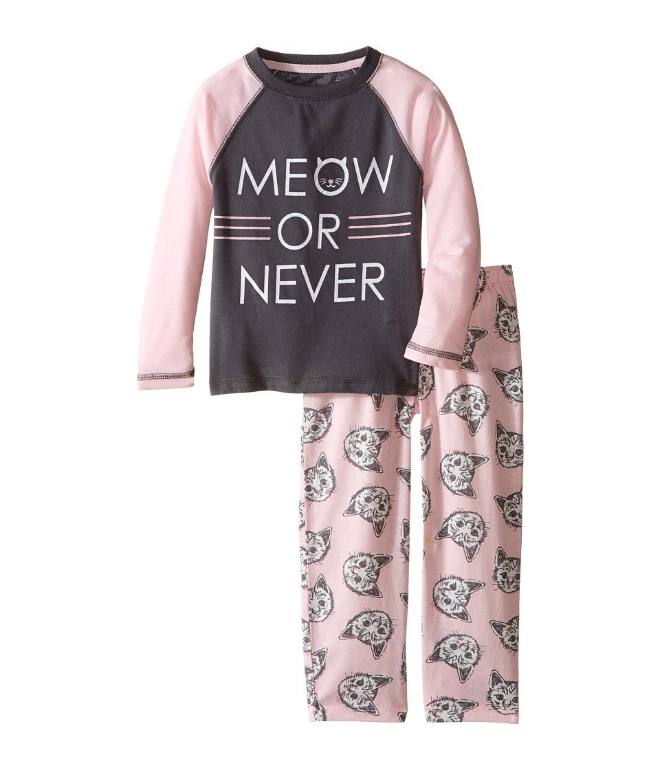 P.J. Salvage Kids - Meow or Never Cat Sleep Set (Toddler/Little Kids/Big Kids) (Pink) Girl's Pajama Sets