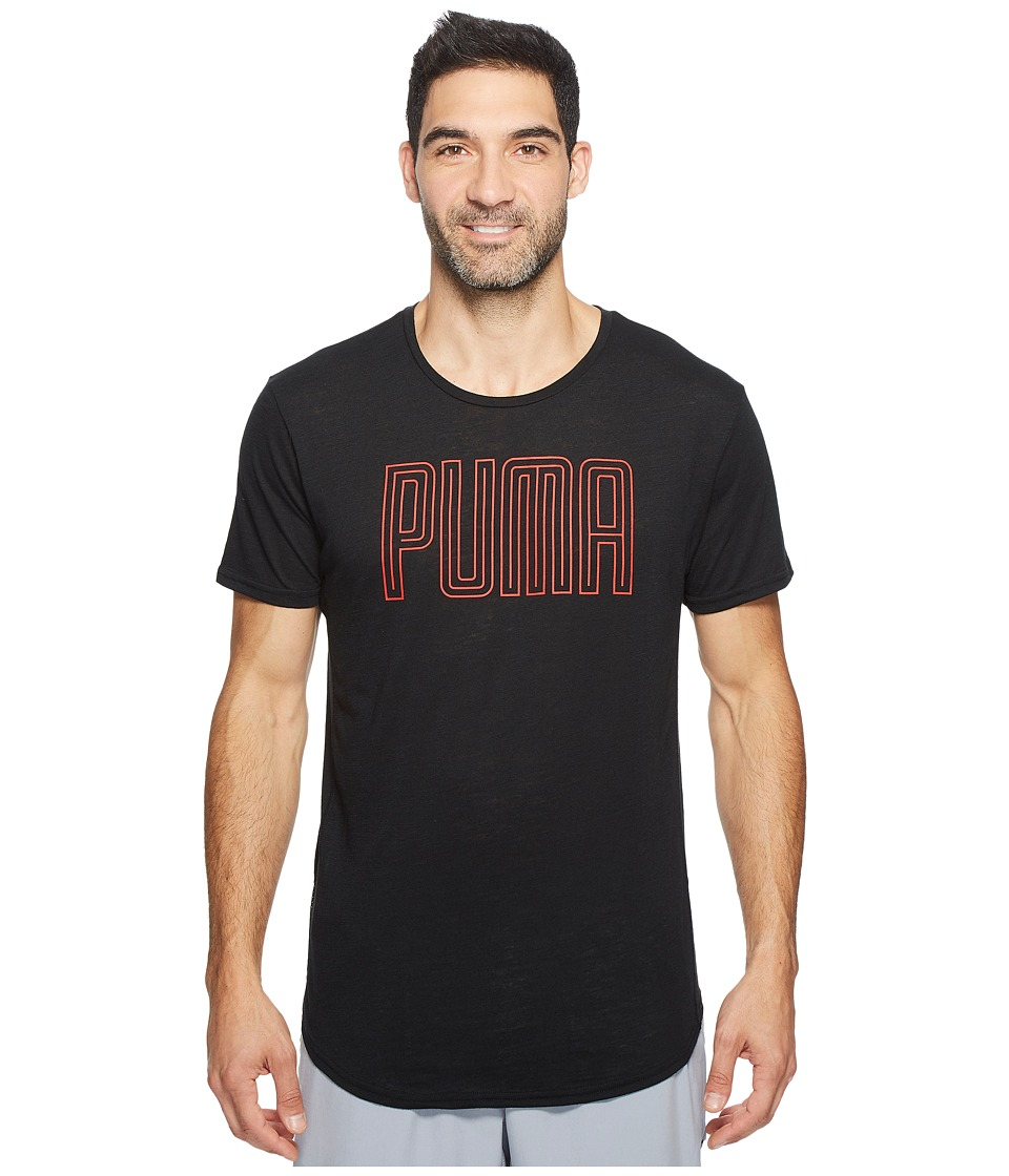 PUMA - Dri-Release Novelty Graphic Tee (Puma Black Heather 1) Men's T Shirt