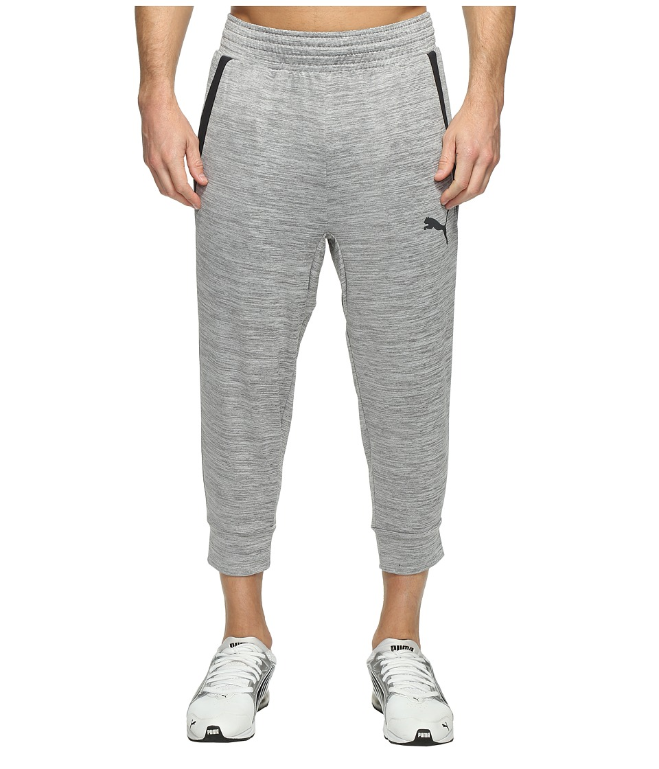 PUMA - Tech Fleece 3/4 Pants (Medium Gray Heather) Men's Workout