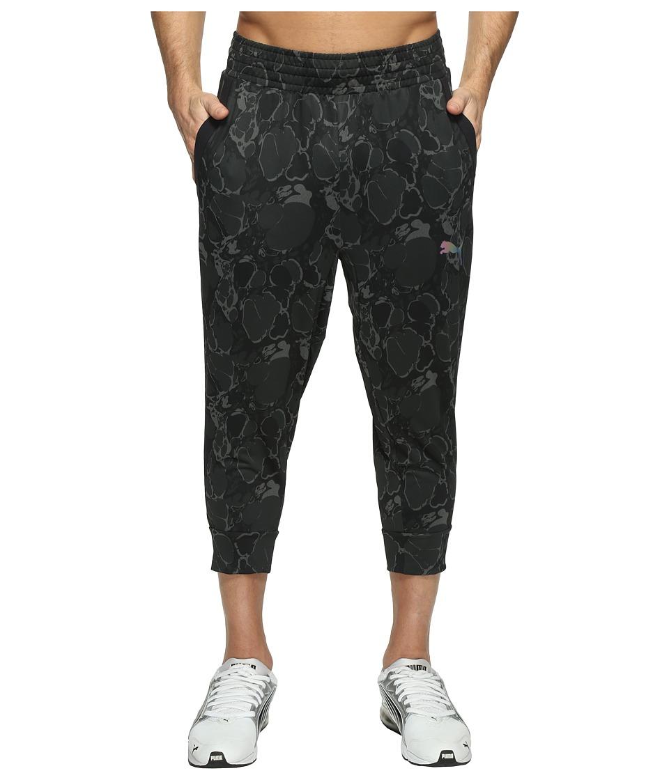 PUMA - Tech Fleece 3/4 Pants (Quiet Shade/Puma Black) Men's Workout