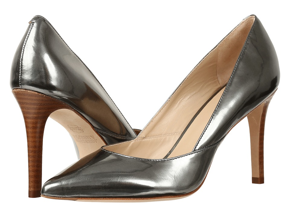 Johnston & Murphy - Vanessa Pump (Pewter Italian Mirrored Metallic Leather) High Heels