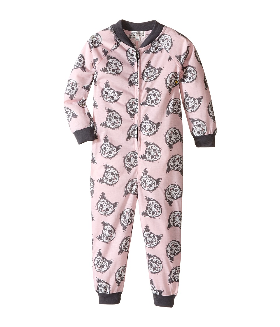 P.J. Salvage Kids - Meow or Never Cat One-Piece Pajama (Toddler/Little Kids/Big Kids) (Pink) Girl's Jumpsuit & Rompers One Piece