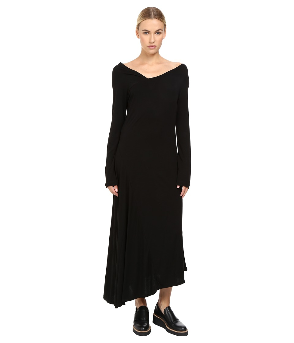 Limi Feu - Chic Long Sleeve Wrap Dress (Black) Women's Clothing