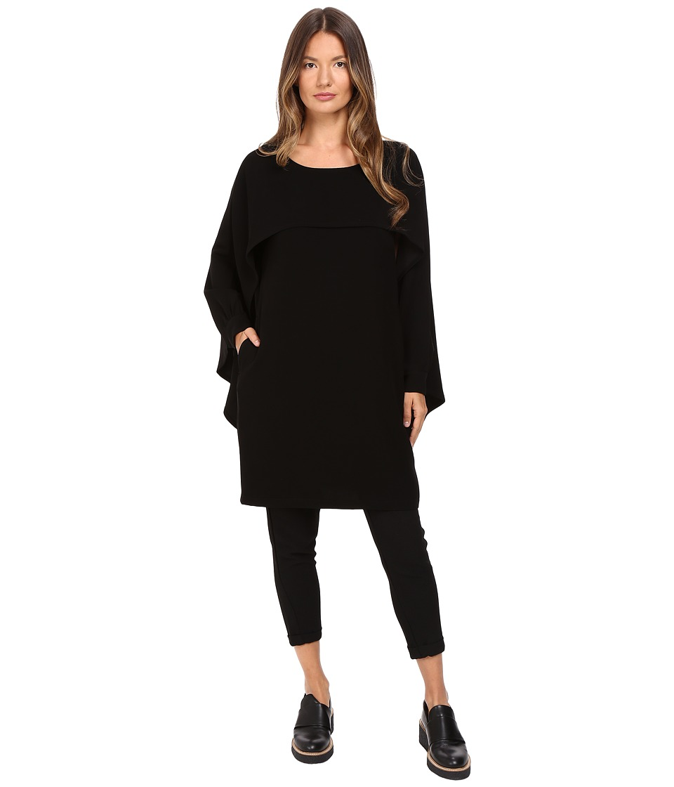 Limi Feu - Cap Sleeve Cape Top (Black) Women's Clothing