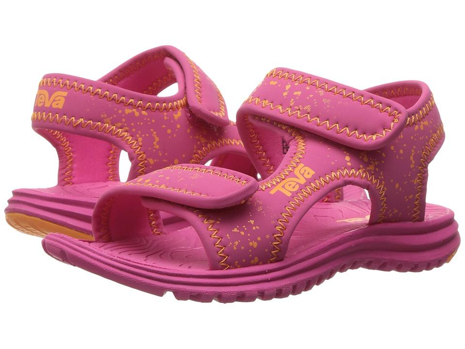 Teva Kids Tidepool (Toddler/Little Kid/Big Kid) (Pink/Orange Splatter) Girls Shoes