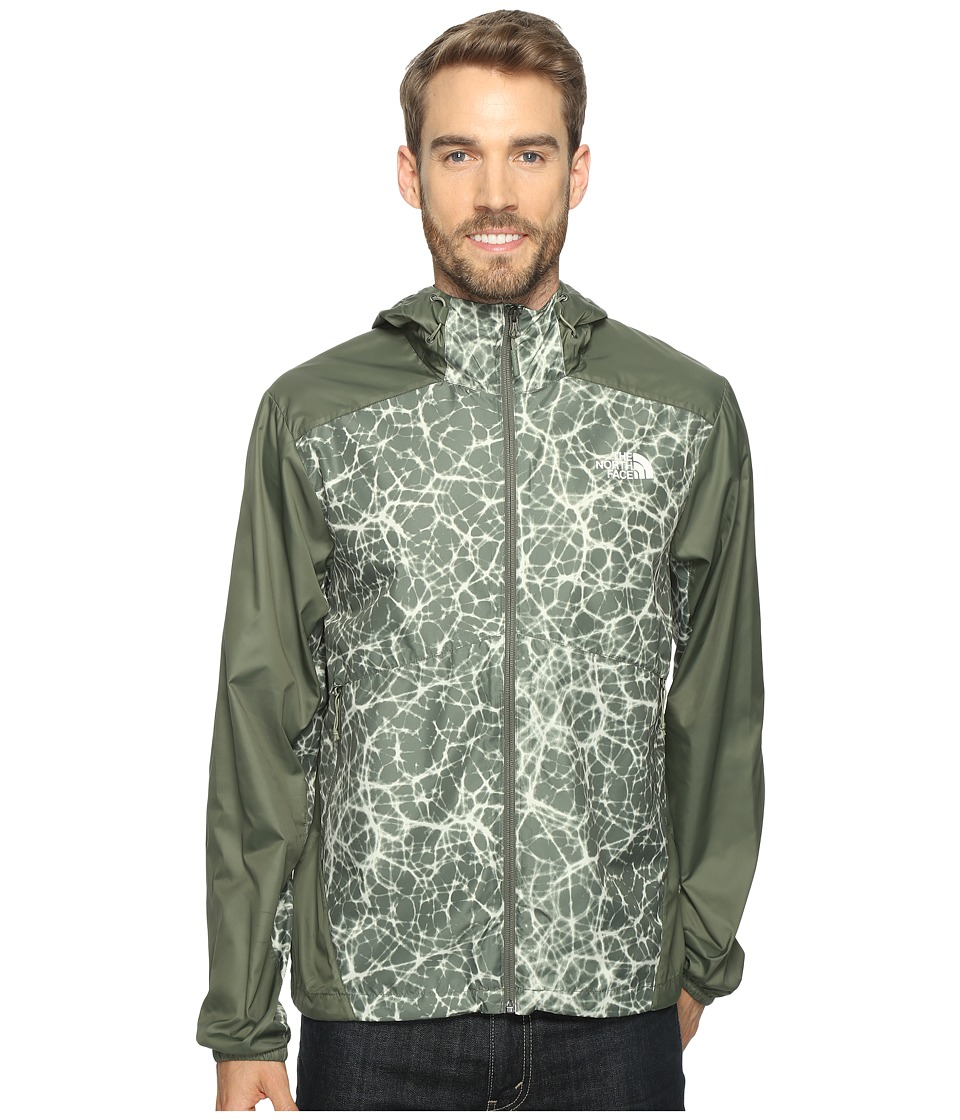 The North Face - Flyweight Hoodie (Thyme Synapse Print/Thyme) Men's Sweatshirt