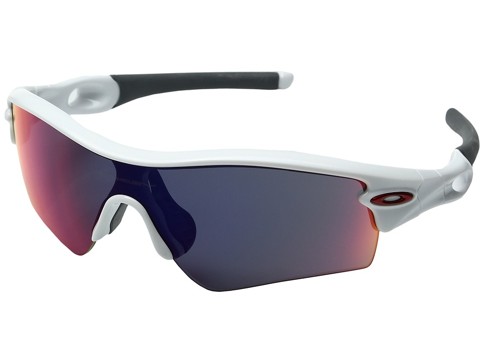 Oakley - Radar Path (Polished White w/ Red Iridium) Fashion Sunglasses