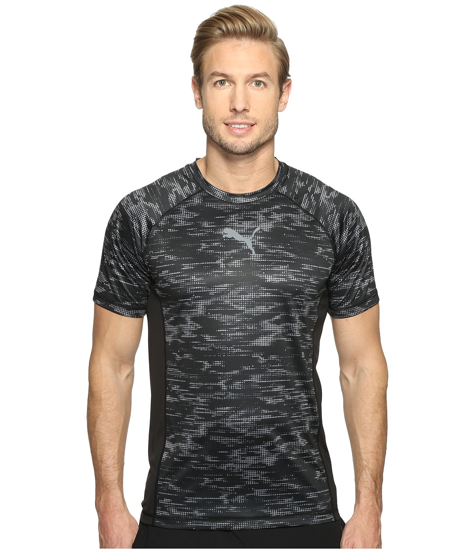 PUMA - Vent Short Sleeve Graphic Tee (Puma Black/Quiet Shade) Men's T Shirt