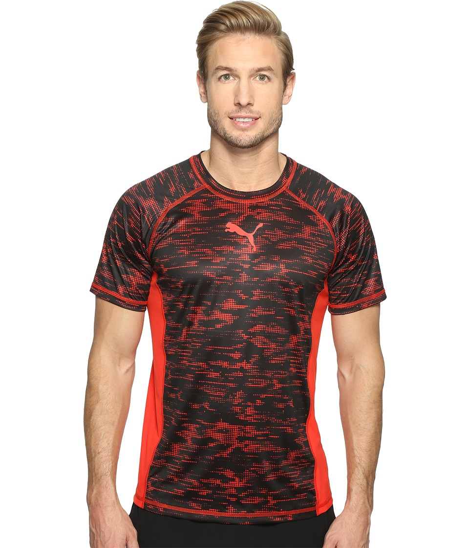 PUMA - Vent Short Sleeve Graphic Tee (Puma Red/Black) Men's T Shirt