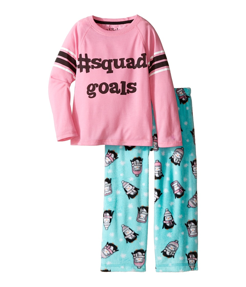 P.J. Salvage Kids - Penguin Squad Sleep Set (Toddler/Little Kids/Big Kids) (Aqua) Girl's Pajama Sets