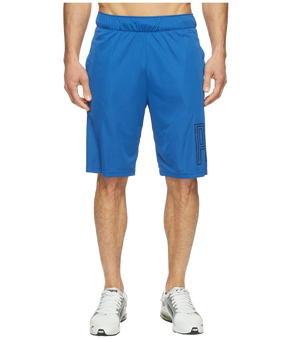 PUMA - Motion Flex 10 Graphic Shorts (True Blue) Men's Shorts
