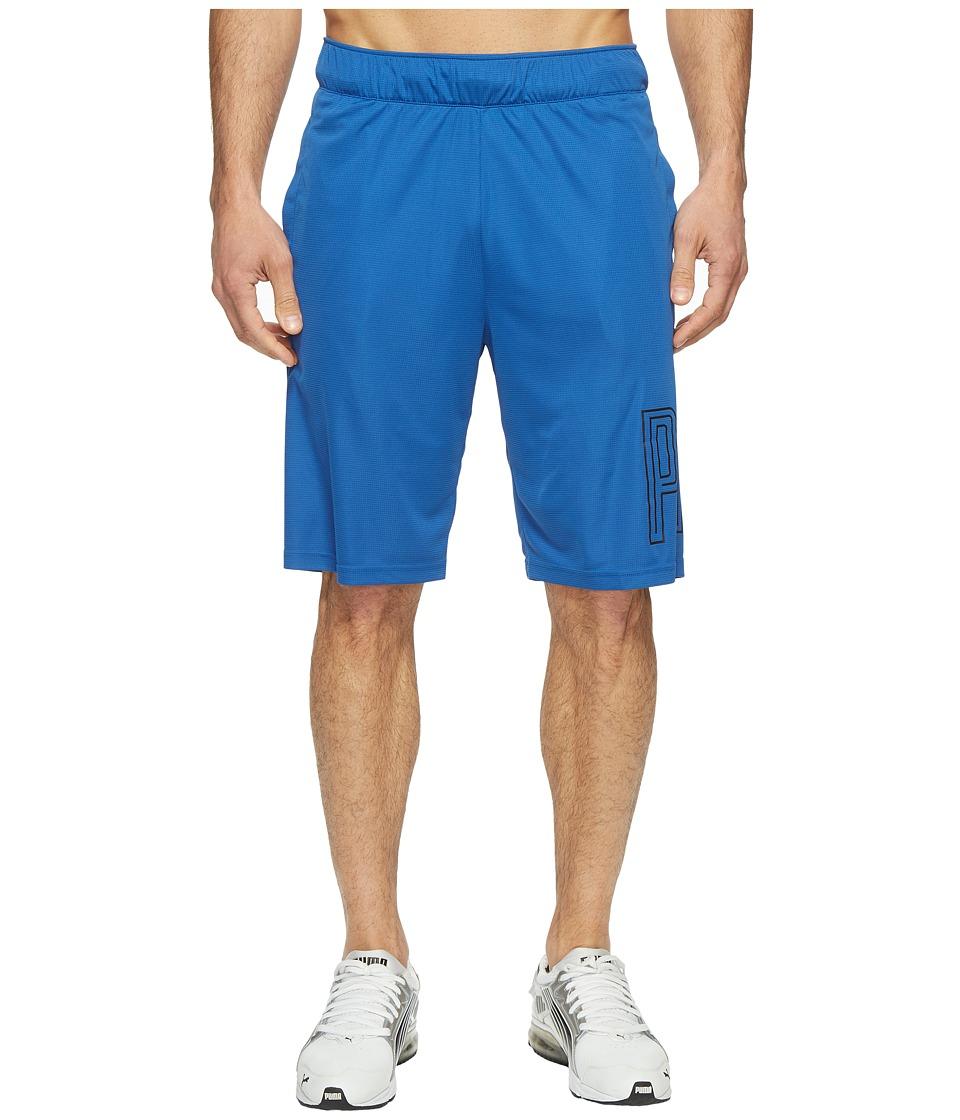 PUMA - Motion Flex 10 Graphic Shorts (True Blue) Men's Shorts