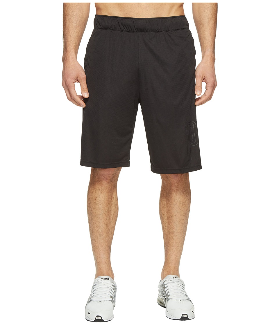 PUMA - Motion Flex 10 Graphic Shorts (PUMA Black) Men's Shorts