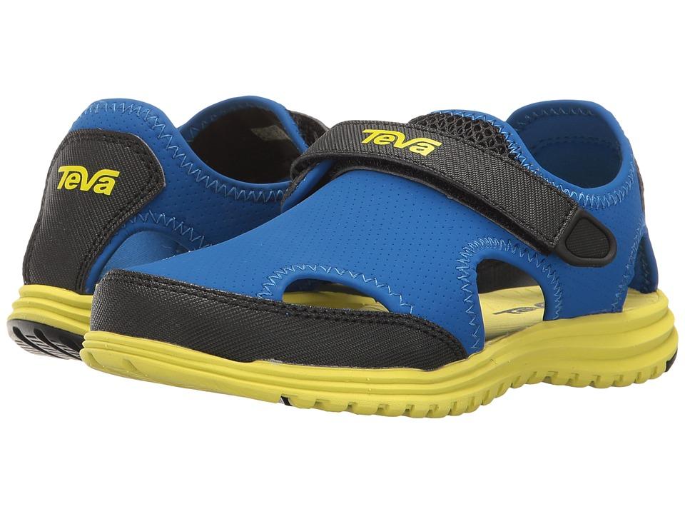 Teva Kids Tidepool Sport (Little Kid) (Blue/Lime) Boys Shoes