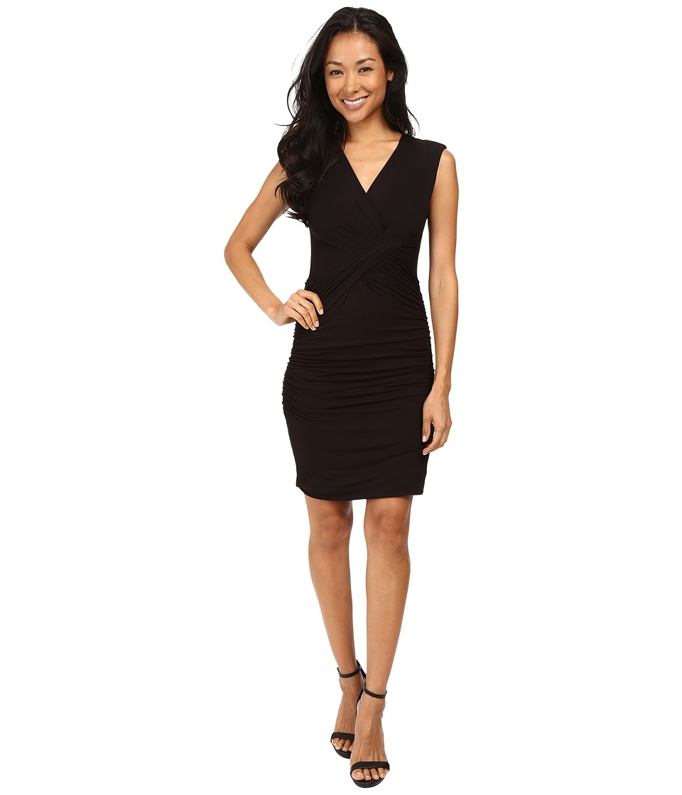 KUT from the Kloth - Lila Surplus Ruched Dress (Black) Women's Dress