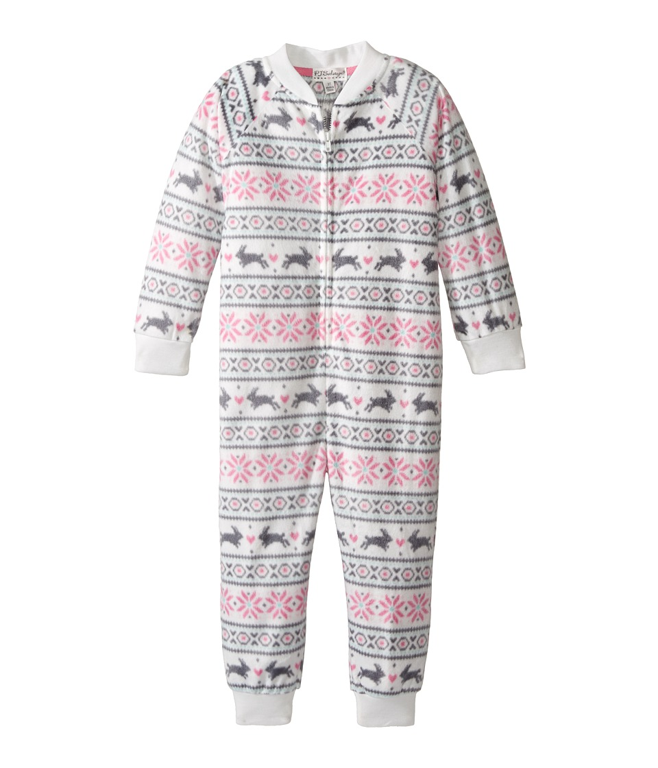 P.J. Salvage Kids - Snow Bunny One-Piece Pajama (Toddler/Little Kids/Big Kids) (Ivory) Girl's Jumpsuit & Rompers One Piece