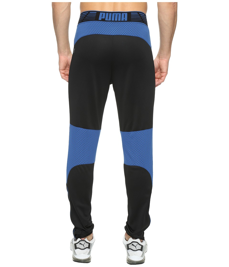 PUMA - Flicker Tech Pants (Puma Black/True Blue) Men's Workout