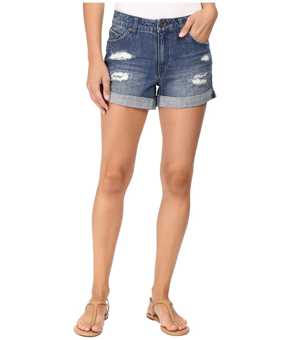 Volcom - Stoned Midi Shorts (Retro Blue) Women's Shorts