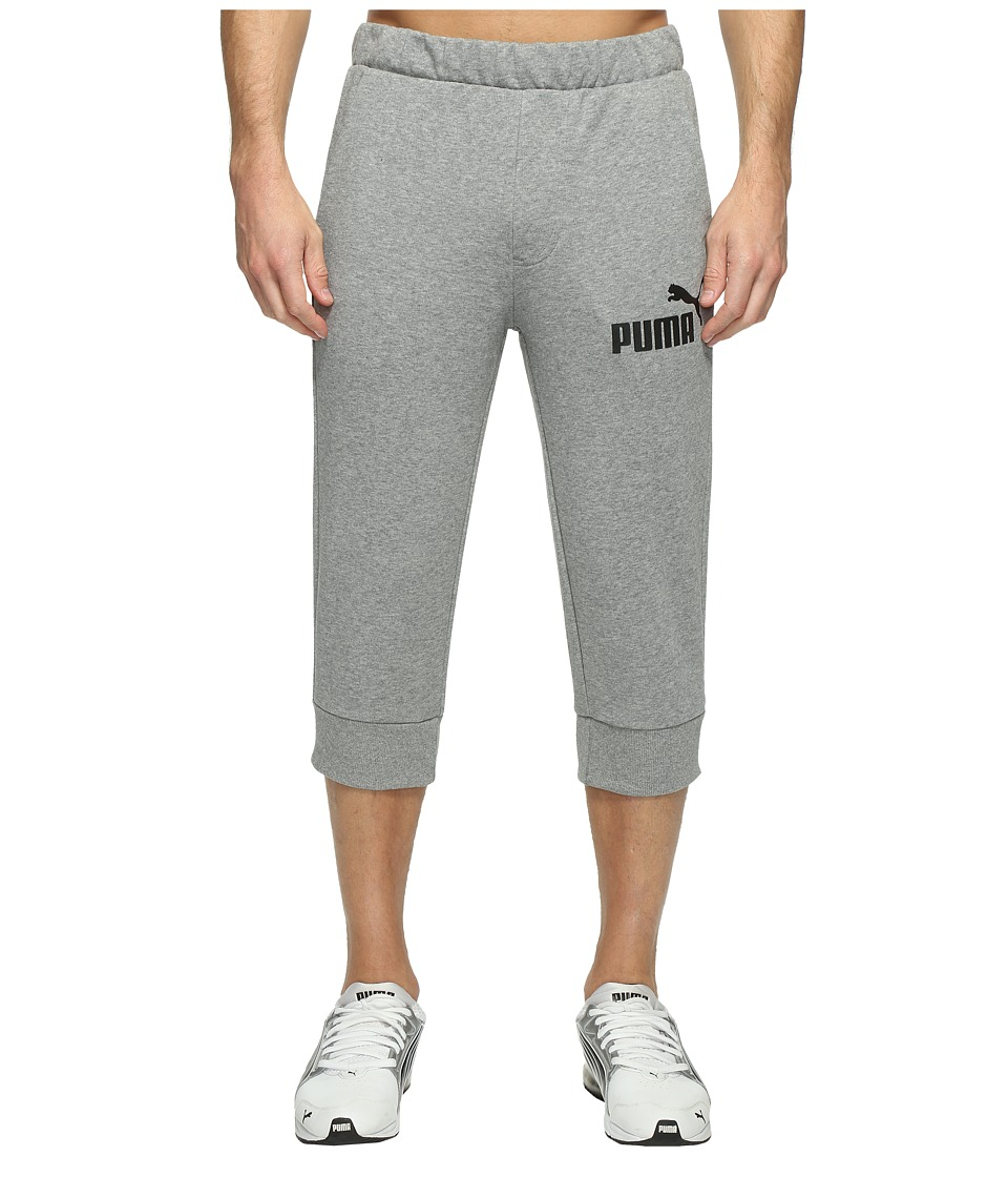 PUMA - ESS No. 1 Logo 3/4 Pants (Medium Gray Heather) Men's Workout