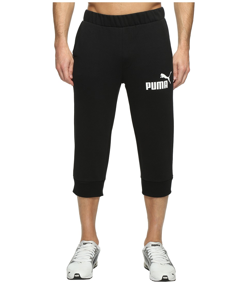 PUMA - ESS No. 1 Logo 3/4 Pants (Cotton Black) Men's Workout